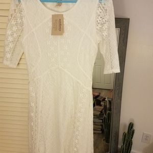 Sundance White Lace Dress